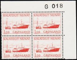 1976. Kununguak. 100 Øre Red 4-Block. G 018. (Michel: 99) - JF175134 - Zonder Classificatie