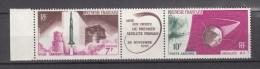 French Polynesia 1966,2V,triptique,rochet,raket,rakete,fusée,cohete,razzo,satellite,satelliet,,MNH/Postfris(D2205) - Frans-Polynesië