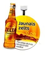 Latvia - BEER Tablemat  - NEW GOLD BEER  Lot -KAS 55 - 106 - 12,12,2017 BEER - Beer