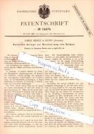 Original Patent - Emile Mertz In Basel , Schweiz , 1881 , Herstellung Von Oelgas !!! - Documents Historiques
