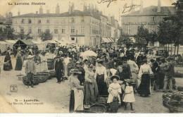 CPA (54 ) LUNEVILLE Le Marché Place Leopold - Luneville