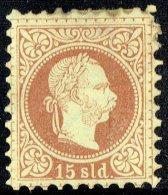 1867  Kaiser Franz-Joseph  15 Soldi   Michel 5 II A  Impression Fine * - Eastern Austria