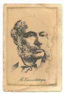 H. Vieuxtemps, Carte Signée O. Pasquier - Célébrités