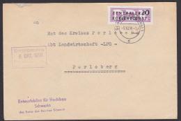 DDR ZKD B7 20 Pf.  SCHWERIN Entwurfsb�ro f�r Hochbau Rat des Bezirkes nach Perleberg