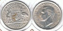 AUSTRALIA FLORIN 1944 PLATA SILVER E1 - Australia