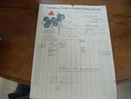 Facture Illustree  Marseille Societe Chaux Ciment Romain Boyer - 1900 – 1949