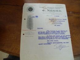 Facture Illustree Marseille  Negre Chaux Platre Ciment - 1900 – 1949