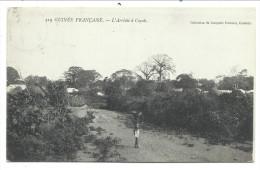 ///  CPA - Afrique - GUINEE FRANCAISE - L'arrivée à COYAH   // - Guinée Française
