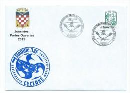 14410 - MARINE NATIONALE -  AERONAUTIQUE NAVALE -JPO 2015 - LANVEOC POULMIC - FLOTTILLE 33 F - HELICOPTERE CYCLONE - Marcophilie (Lettres)