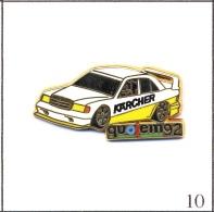 Pin´s Automobile - Mercedes / Sponsor Karcher-Salon Quojem 1992. Est Arthus Bertrand. Zamac. T378-10 - Rallye