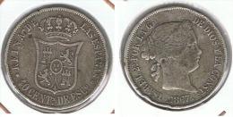 ESPAÑA ISABEL II 40 CENTIMOS ESCUDO MADRID PLATA SILVER E1 - Sin Clasificación