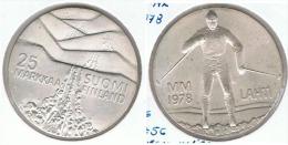 FINLANDIA 25 MARKKAA 1978 SKY PLATA SILVER E1 - Finlandia