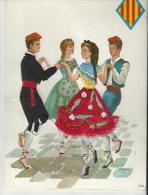 Superbe, Carte Brodée, Couple Robe Et Costume Homme, Ariège Comté De Foix - Ricamate