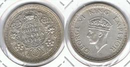 INDIA JORGE VI  RUPIA RUPEE 1944 PLATA SILVER E2 - India