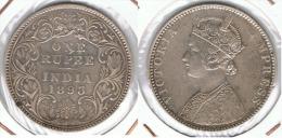 INDIA VICTORIA  RUPIA RUPEE 1893 PLATA SILVER E1 - India