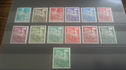 LOT 264053 TIMBRE DE FRANCE NEUF** N�106 A 118 VALEUR 117 EUROS LUXE