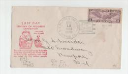 Beleg Von Der Weltausstellung Chicago 1933 - Weltausstellung