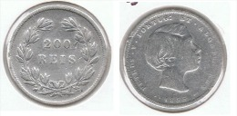 PORTUGAL 200 REIS 1855 PLATA SILVER E1 - Portugal