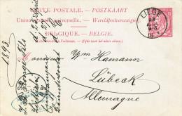 493/23 - ARMURERIE LIEGEOISE - Entier Postal LIEGE 1893 - Cachet JB Rongé Fils , Fabt D'Armes , Liège - Shooting (Weapons)
