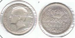 PORTUGAL 200 REIS 1909 PLATA SILVER E1 - Portugal