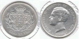 PORTUGAL 500 REIS 1908 PLATA SILVER E1 - Portugal