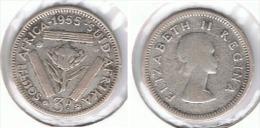 SUDAFRICA SOUTH AFRICA 3 PENCE 1955 PLATA SILVER E1 - Sudáfrica