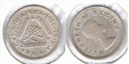 SUDAFRICA SOUTH AFRICA 3 PENCE 1956 PLATA SILVER E1 - Sudáfrica