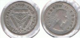 SUDAFRICA SOUTH AFRICA 3 PENCE 1959 PLATA SILVER E1 - Sudáfrica