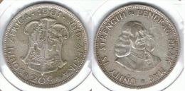 SUDAFRICA SOUTH AFRICA 20 CENTS RAND 1961 PLATA SILVER E1 - Sudáfrica