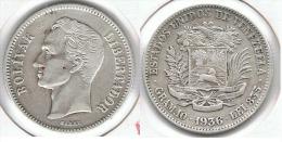 VENEZUELA 2 BOLIVAR 1936 PLATA SILVER E1 - Venezuela