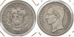 VENEZUELA 5 BOLIVAR 1926 PLATA SILVER E1 - Venezuela