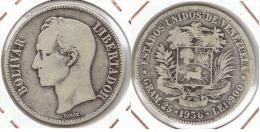 VENEZUELA 5 BOLIVAR 1936 PLATA SILVER E1 - Venezuela