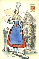 Belle Carte Folklorique  De France  -    Auvergne     Signée     R  Maryatton       N58 - Andere Illustrators