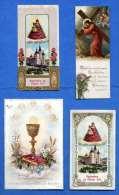 4 Heiligenbilder Andachtsbilder (1897-1920) - 3 Mit Golddruck
