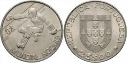 "PORTUGAL  25 Escudos 1.983  Cu Ni  KM#616  ""MUNDIAL DE HOCKEY 1.982""  UNC/SC  T-DL-11.351 - Portugal"