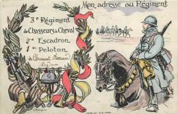 3° Régiment De Chasseurs à Cheval à Clermont-Ferrand (Puy-de-Dôme) - Cpa Illustrateur;L. Malnpila - Voir 2 Scans - Reggimenti