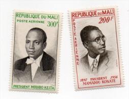 MALI-- Poste Aérienne YT N°9/10--- Présidents Mamadou Konate Et Modibo Keita --Timbres Neufs Sans Charnière - Mali (1959-...)