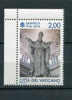 VATICAN / VATIKAN 2014. Centenary Of The Death Of Saint Pius X, Religion, Christianity, Catholicism,  MNH (**) - Vatican