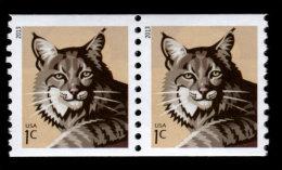 USA, Scott #4802, Bobcat, 1c Coil Pair, MNH, VF - Coils & Coil Singles
