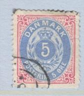 DENMARK  27  Fault     Perf.  14 X  13 1/2  (o) - 1864-04 (Christian IX)