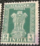 India 1950 Asokan Capital Pillar Service 9p - Used - Dienstzegels