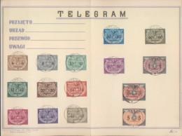 POLAND POLEN TELEGRAM GROJEC 1940 ISSUED UNDER GERMAN OCCUPATION STAMP  6g TO 5Z Set - 1939-44: World War Two