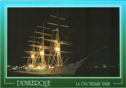 CPM 59 (Nord) Dunkerque - Le Trois Mâts Duchesse Anne, éclairé De Nuit TBE - Dunkerque