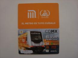 MEXICO - METRO - RECHARGEABLE CARD - 45 ANIVERSARIO
