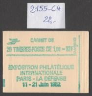 Carnet  N° 2155-C4 à 20% De La Cote  Neuf  **  TB - Booklets