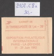 Carnet  N° 2102-C8a  Neuf  **  TB - Carnets