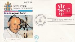 Pope John Paul II - Visit: 1981 USA Guam Agana (G34-18) - Papes