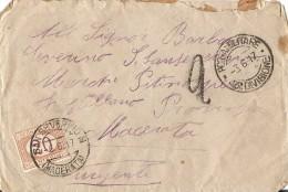 J-POSTA MILITARE ZONA DI GUERRA VIAGGIATA 1917-AFFRANCATA SEGNATASSE 20 CENTESIMI - 1900-44 Vittorio Emanuele III