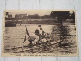 René SAVARD Sur Son Hydrocycle De Sauvetage - Cartes Postales