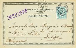 500/23 - ARMURERIE LIEGEOISE - Carte Privée ALEXANDRIE Bur.Franc.Egypte 1906 Versla Manufacture Liégeoise D´ Armes à Feu - Shooting (Weapons)